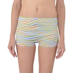 Art Abstract Colorful Colors Reversible Boyleg Bikini Bottoms