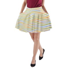 Art Abstract Colorful Colors A Line Pocket Skirt