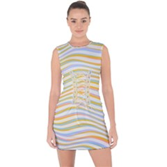 Art Abstract Colorful Colors Lace Up Front Bodycon Dress