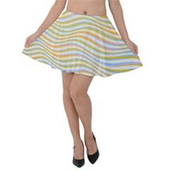 Art Abstract Colorful Colors Velvet Skater Skirt