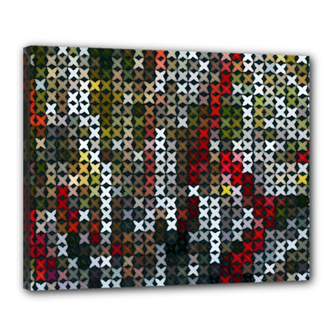 Christmas Cross Stitch Background Canvas 20  X 16