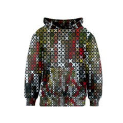 Christmas Cross Stitch Background Kids  Pullover Hoodie