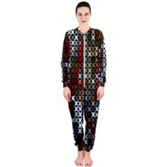 Christmas Cross Stitch Background Onepiece Jumpsuit (ladies)