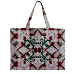 Christmas Paper Zipper Mini Tote Bag