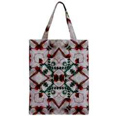 Christmas Paper Zipper Classic Tote Bag