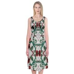 Christmas Paper Midi Sleeveless Dress