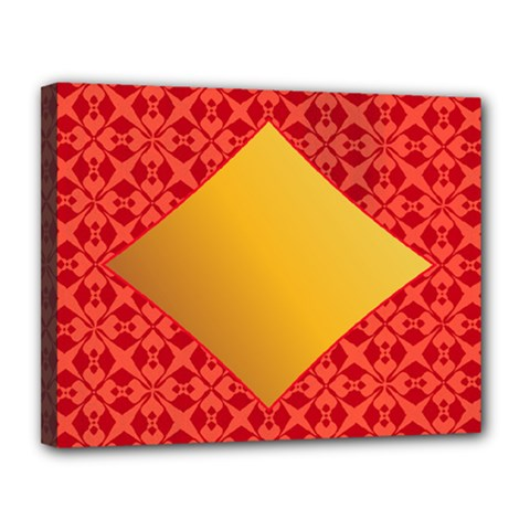 Christmas Card Pattern Background Canvas 14  X 11