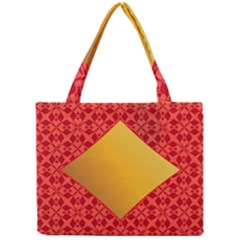 Christmas Card Pattern Background Mini Tote Bag