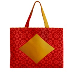 Christmas Card Pattern Background Zipper Mini Tote Bag