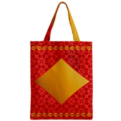 Christmas Card Pattern Background Zipper Classic Tote Bag