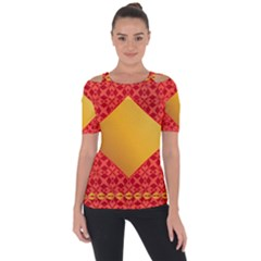 Christmas Card Pattern Background Short Sleeve Top
