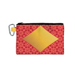 Christmas Card Pattern Background Canvas Cosmetic Bag (small)