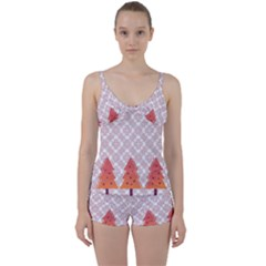 Christmas Card Elegant Tie Front Two Piece Tankini