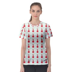 At On Christmas Present Background Women s Sport Mesh Tee