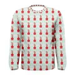 At On Christmas Present Background Men s Long Sleeve Tee