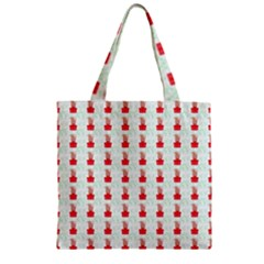 At On Christmas Present Background Zipper Grocery Tote Bag