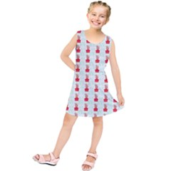 At On Christmas Present Background Kids  Tunic Dress