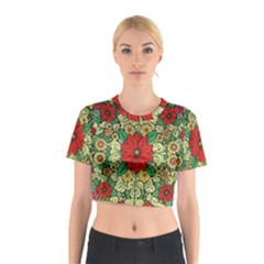 Calsidyrose Groovy Christmas Cotton Crop Top