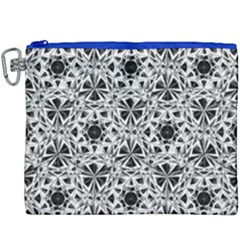 Star Crystal Black White 1 And 2 Canvas Cosmetic Bag (xxxl)