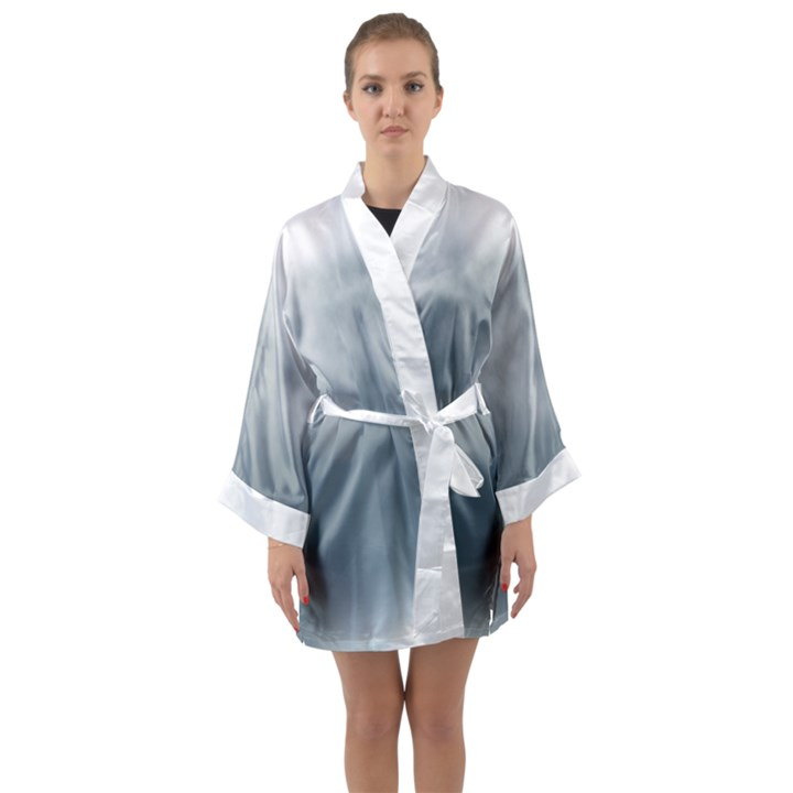 cloudy morning Long Sleeve Kimono Robe
