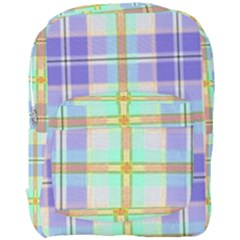 Blue And Yellow Plaid Full Print Backpack