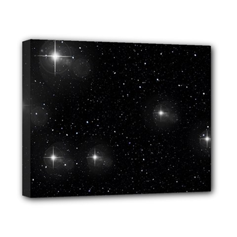 Starry Galaxy Night Black And White Stars Canvas 10  X 8