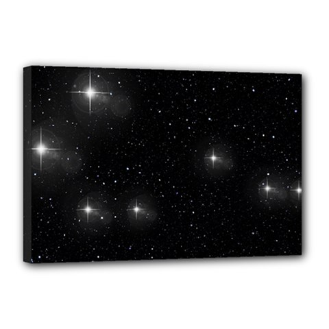 Starry Galaxy Night Black And White Stars Canvas 18  X 12