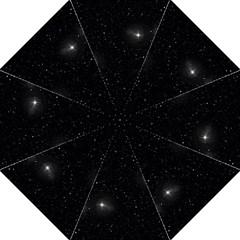 Starry Galaxy Night Black And White Stars Straight Umbrellas