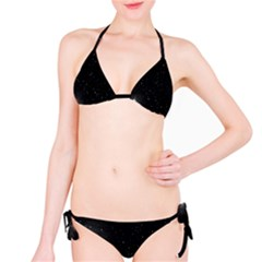 Starry Galaxy Night Black And White Stars Bikini Set