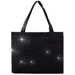 Starry Galaxy Night Black And White Stars Mini Tote Bag