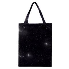 Starry Galaxy Night Black And White Stars Classic Tote Bag