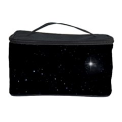 Starry Galaxy Night Black And White Stars Cosmetic Storage Case