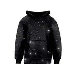 Starry Galaxy Night Black And White Stars Kids  Pullover Hoodie