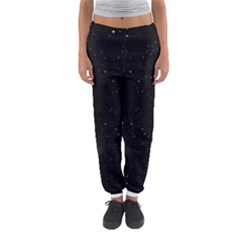 Starry Galaxy Night Black And White Stars Women s Jogger Sweatpants