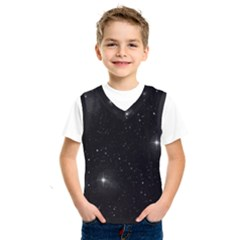 Starry Galaxy Night Black And White Stars Kids  Sportswear