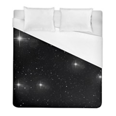 Starry Galaxy Night Black And White Stars Duvet Cover (full/ Double Size)