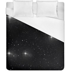 Starry Galaxy Night Black And White Stars Duvet Cover (california King Size)