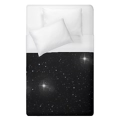 Starry Galaxy Night Black And White Stars Duvet Cover (single Size)
