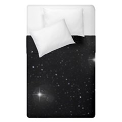 Starry Galaxy Night Black And White Stars Duvet Cover Double Side (single Size)