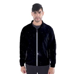 Starry Galaxy Night Black And White Stars Wind Breaker (men)