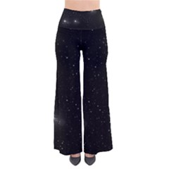 Starry Galaxy Night Black And White Stars Pants