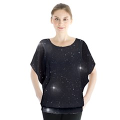 Starry Galaxy Night Black And White Stars Blouse