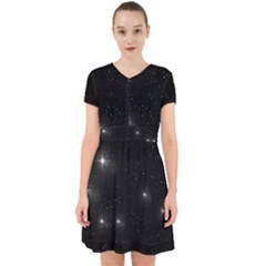Starry Galaxy Night Black And White Stars Adorable In Chiffon Dress