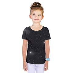 Starry Galaxy Night Black And White Stars Kids  One Piece Tee