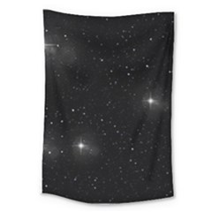 Starry Galaxy Night Black And White Stars Large Tapestry