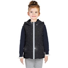 Starry Galaxy Night Black And White Stars Kid s Puffer Vest