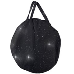 Starry Galaxy Night Black And White Stars Giant Round Zipper Tote