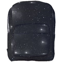 Starry Galaxy Night Black And White Stars Full Print Backpack