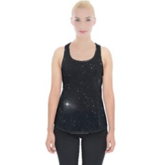 Starry Galaxy Night Black And White Stars Piece Up Tank Top