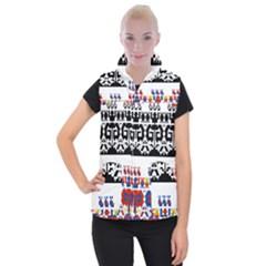 Bulgarian Folk Art Folk Art Women s Button Up Puffer Vest